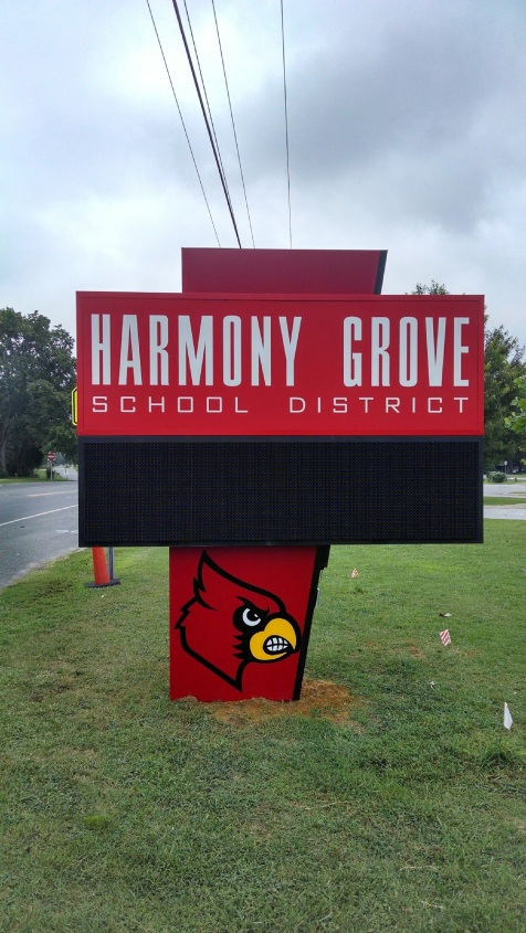 School signs scoreboards videoboards ace sign company for Harmony grove